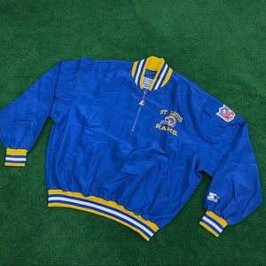 Vgt 90s St Louis Rams Starter Windbreaker Jacket